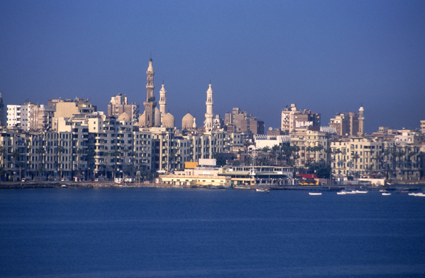 The port city of Alexandria Egypt
